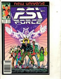 Lot of 12 PSI Force Marvel Comic Books 1 2 3 4 5 6 7 8 9 10 11 12 Network DS2