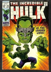 Incredible Hulk (1968) #115 VG+ 4.5 Marvel Comics