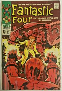 FANTASTIC FOUR#81 FN 1968 MARVEL SILVER AGE COMICS