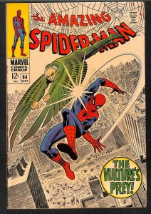 Amazing Spider-Man #64 FN- 5.5 Vulture!