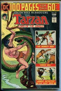 TARZAN #232 1974-DC-EDGAR RICE BURROUGHS-GIANT ISSUE-JOE KUBERT JUNGLE ART-vf/nm