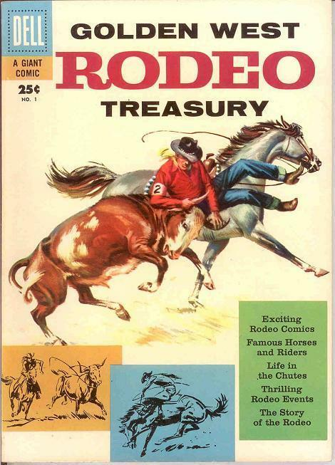 GOLDEN WEST RODEO TREASURY 1 (DELL GIANT;10/57) VF COMICS BOOK