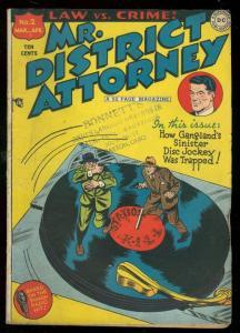 MR. DISTRICT ATTORNEY #2 1948-DC COMIC-NBC RADIO SERIES VG+
