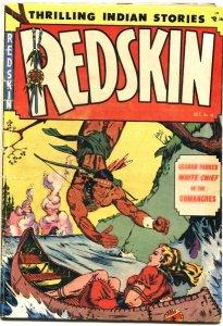 REDSKIN #12-1952-BONDAGE COVER-DOUG WILDEY ART-INDIAN STORIES-LITTLE BOW