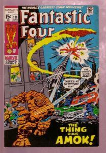 FANTASTIC FOUR #111 1971- THE TORCH-THING-J BUSCEMA ART VF