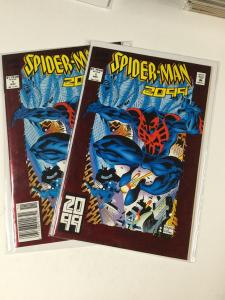 Spider-man 2099 1 Newsstand And Refular Edition Combo Nm Near Mint Marvel