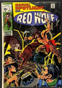 Marvel Spotlight #1 GD+ 2.5 1st Red Wolf! Comics