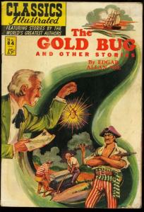 CLASSICS ILLUSTRATED #84-HRN 85-THE GOLD BUG-E A POE-   VG