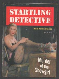 Startling Detective 7/1950-Showgirl in fishnet stockings cover-exploitation-p...
