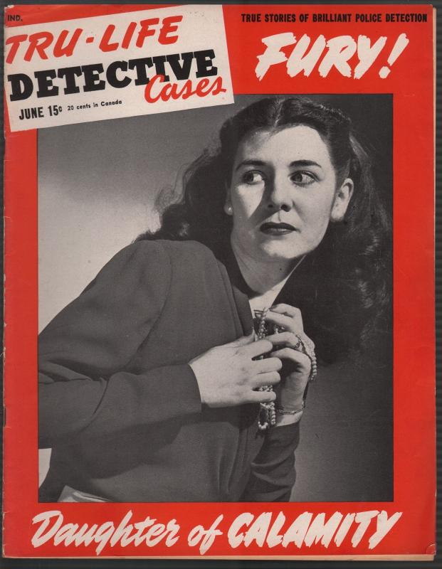 Tru-Life Detective Cases 6/1945-Tayshack-jewelry girl cover-mystery-crime-VF