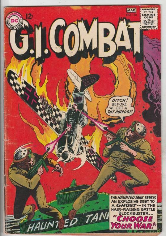 G.I. Combat #110 (Mar-65) FN- Mid-Grade The Haunted Tank