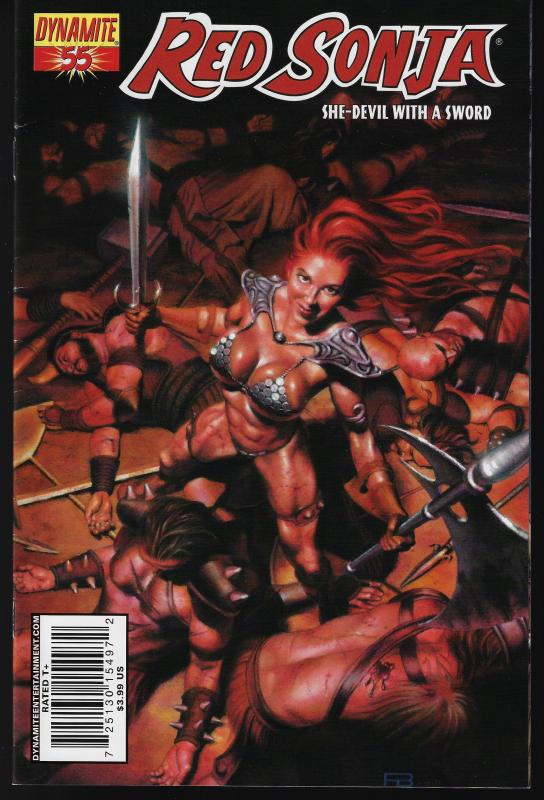 Red Sonja #55 (Dynamite Entertainment)- Patrick Berkenkotter Cover