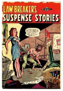 Lawbreakers Suspense Stories #11 comic book 1953- Severed Tongues horror cover