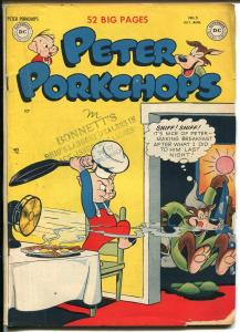 Peter Porkchops #5 1950-DC-violent fumy animals-Superman ad-breakfast gag-VG