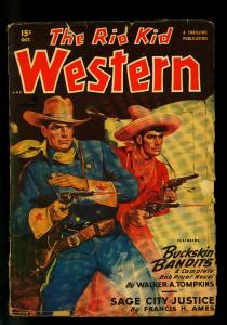 The Rio Kid Western October 1949- Thrilling Pulp-Walker Tompkins- G