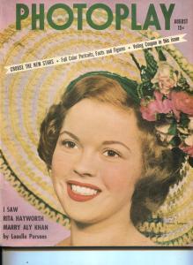 Photoplay-Shirley Temple-Kirk Douglas-Loretta Young-Robert Mitchum-Aug-1949