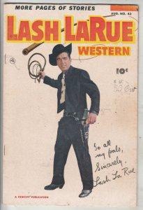 Lash Larue #53 (Aug-53) VF/NM Mid-High-Grade Lash Larue