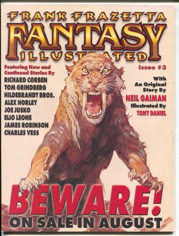 Frank Frazetta Fantasy Illustrated #2 1998-Frazetta cover-Moebius-Larry Elmore-V