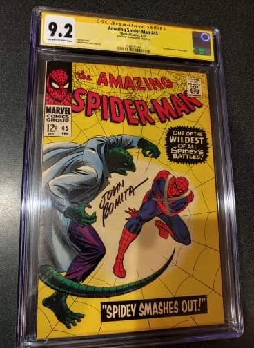 Amazing Spider-Man #45 - Signed by John Romita - CGC 9.2