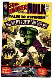 TALES TO ASTONISH #77 comic book-HULK/SUBBY-nice copy-MARVEL-SILVER-AGE vf