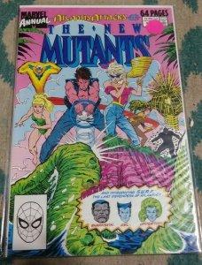 NEW MUTANTS ANNUAL  #  5 1989 MARVEL ATLANTIS ATTACKS  BOOM BOOM RICTOR WARLOCK