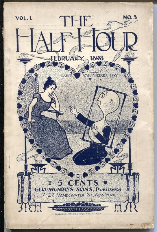 Half Hour 2/1898-5th issue-rare pulp-The Haunted College Room-VG+