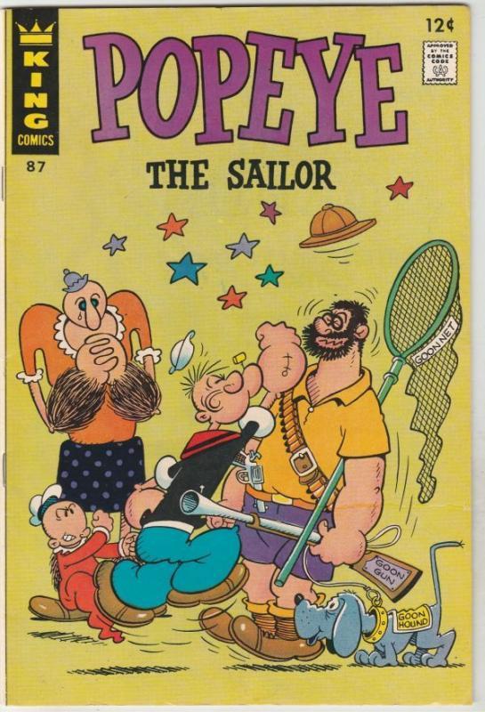 Popeye the Sailor #87 (Jul-67) NM/NM- High-Grade Popeye, Olive Oil, Sweetpea