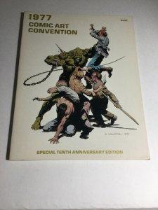 1977 Comic Art Convention Vf/Nm Very Fine/Near Mint 9.0 Tenth Anniversary Ed.