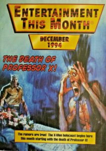 Entertainment This Month December 1994 Magazine Catalog Death of Professor X