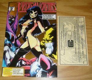 Dream Weavers #2 VF/NM signed deluxe gold edition w/COA (48 of 500) golden realm