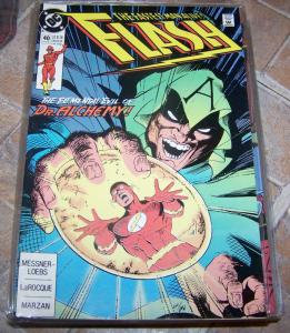 FLASH # 40 july 1990 dc comics  cw tv show  WALLY WEST dr alchemy