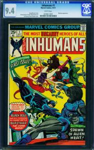 Inhumans #1 CGC 9.4 wp Black Bolt movie coming Marvel 0258613001