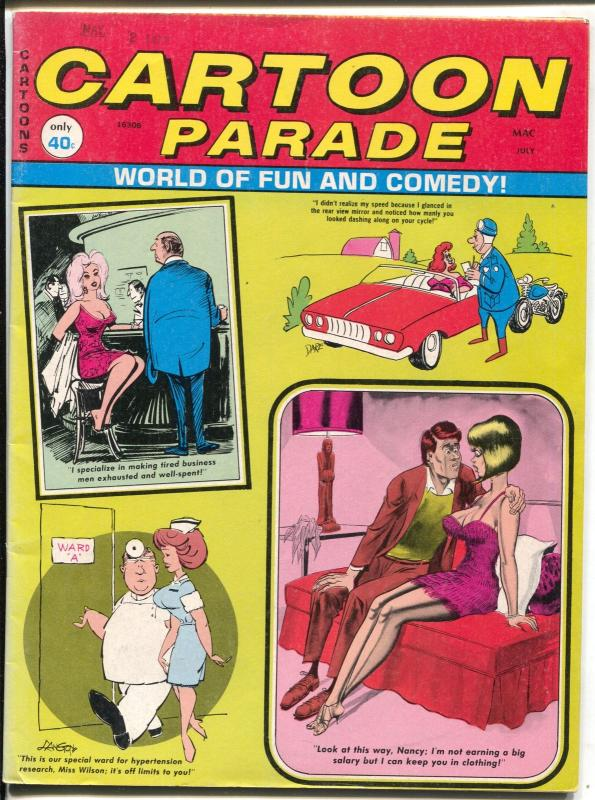 Cartoon Parade 7/1972-Marvel-Bill Ward-Dan Berg-Bill Wenzel-FN/VF