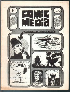 Comic Media #8 1972-British Fanzine-Charles Sculz interview-Thonger-FN