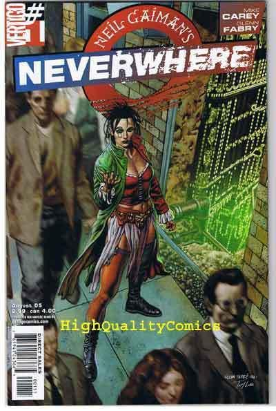 NEVERWHERE #1, NM+, Neil Gaiman, Glenn Fabry, 2005, more Vertigo in store