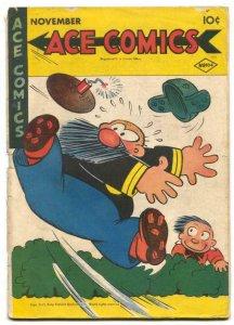 Ace Comics #104 1945- Phantom- Blondie VG-