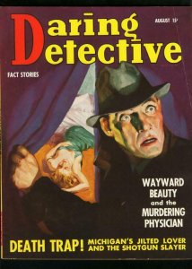 DARING DETECTIVE AUG 1938-TRUE CRIME-DEATH TRAP-TORTURE TRIO VG