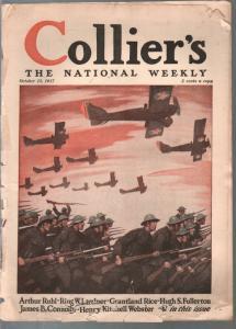Collier's 10/13/1917-WWI cover & features-Ring Lardner-Grantland Rice-FR/G
