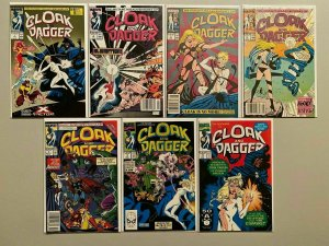 Cloak and Dagger lot 7 different from #1-19 8.0 VF (1988 3rd Series)