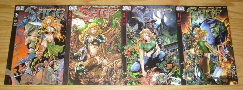 Legend of the Sage #1-4 FN/VF complete series 2001 CHAOS! COMICS brian augustyn
