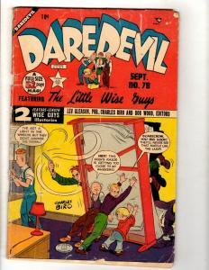 Daredevil # 78 VG- Lev Gleason Publication Comic Book Charles Biro Bob Wood JL11