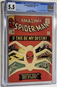 The Amazing Spider-Man #31 (1965) CGC Graded 5.5 1st appearance of Gwen Stacy