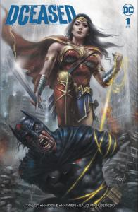 DCEASED #1 PARRILLO VARIANT BATMAN WONDER WOMAN TRADE DRESS LTD 1500 W/ COA NEW!
