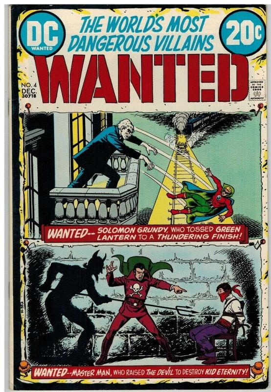 WANTED (1972)  4 F-VF Dec 1972 Solomon Grundy/Green Lan