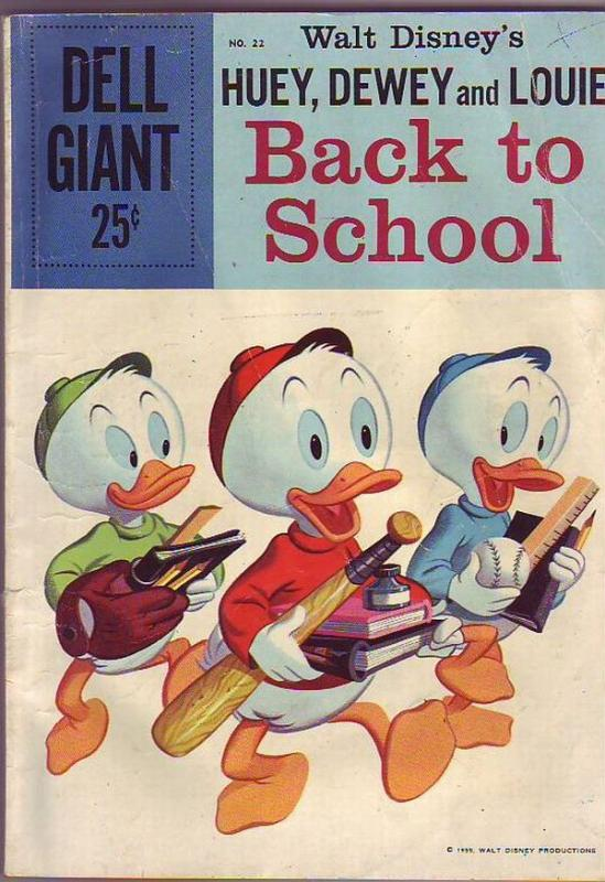 Dell Giant #22 (Oct-59) VG+ Affordable-Grade Donald Duck, Uncle Scrooge, Huey...