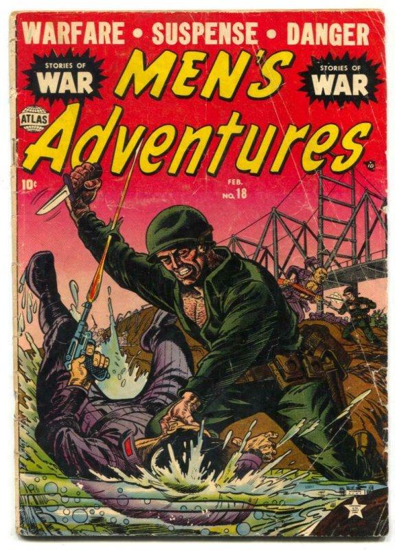 Men's Adventure #18 1952- Korean War- Atlas comic G