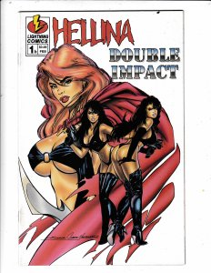 HELLINA#1  DOUBLE IMPACT FN/VF  LIGHTING COMICS NO RESERVE  Save on shipping