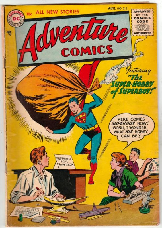 Adventure Comics #215 (Aug-55) VG/FN Mid-Grade Superboy, Green Arrow, Speedy,...
