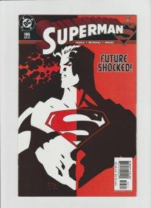 Superman 195 VF+ 8.5 (2003, DC) McDaniel Art! Cool Cover!!