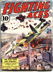 FIGHTING ACES-MAY 1944-DAVID GOODIS-LANCE KERMIT-WW II PULP FICTION-POPULAR PUBS
